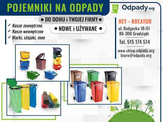 Pojemniki na odpady Wodzisław Śląski - sklep online