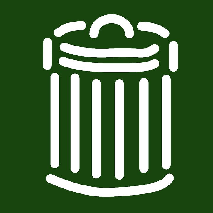 Zielone pojemniki na odpady