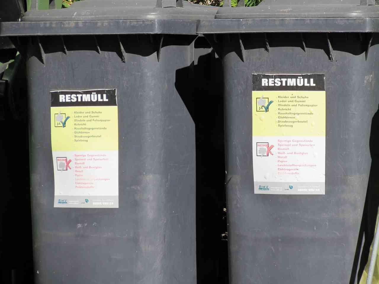 Wymiary pojemników na odpady